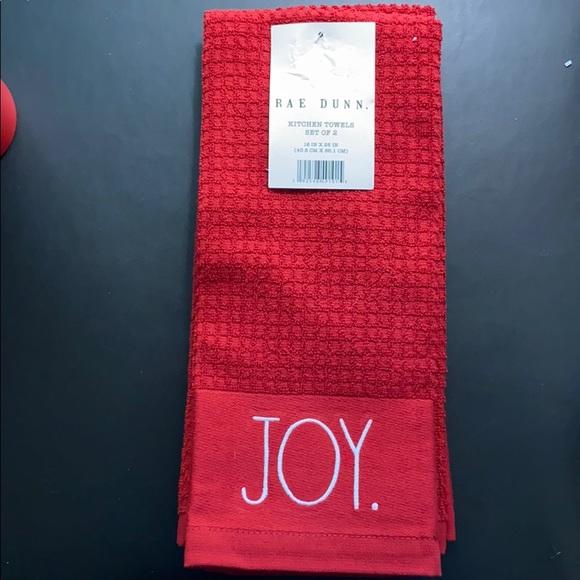 Rae Dunn Christmas Hand Towels 2pk